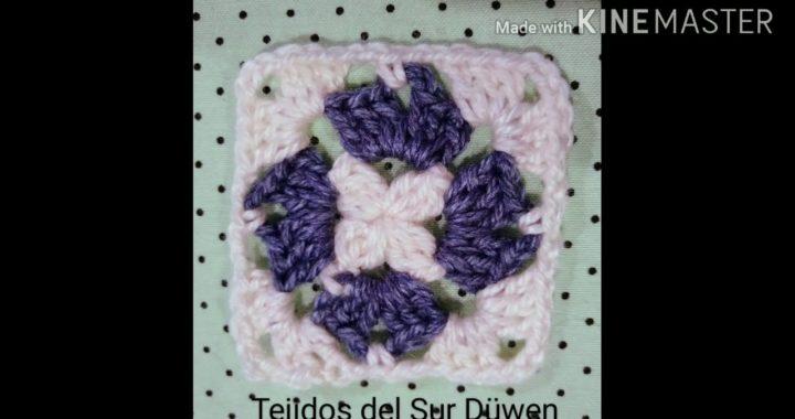 Granny de abuelita. Básico súper fácil a crochet.