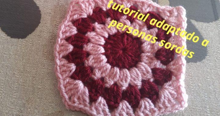 Granny flor crochet facil