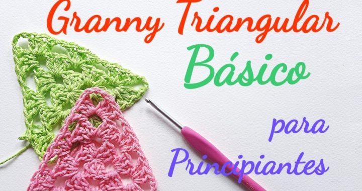 Granny triangular básico ideal principiantes