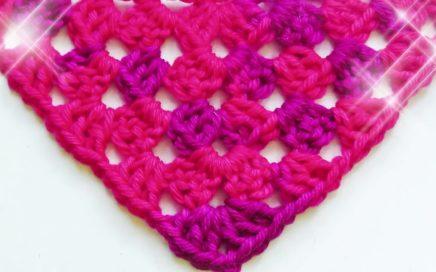Half Granny Square shawl crochet pattern - Woolpedia®