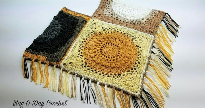 How To Crochet - A Childs Poncho | The Galaxy Gal Poncho Age 8-12 | BAG O DAY Crochet Tutorial #454