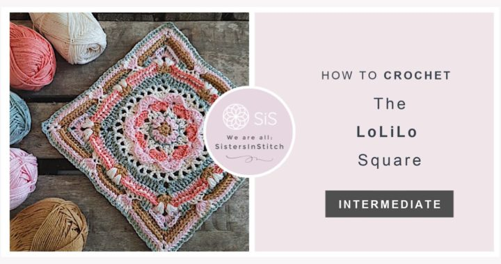 How To Crochet The LoLiLo Square | An Overlay Crochet Granny Square Tutorial