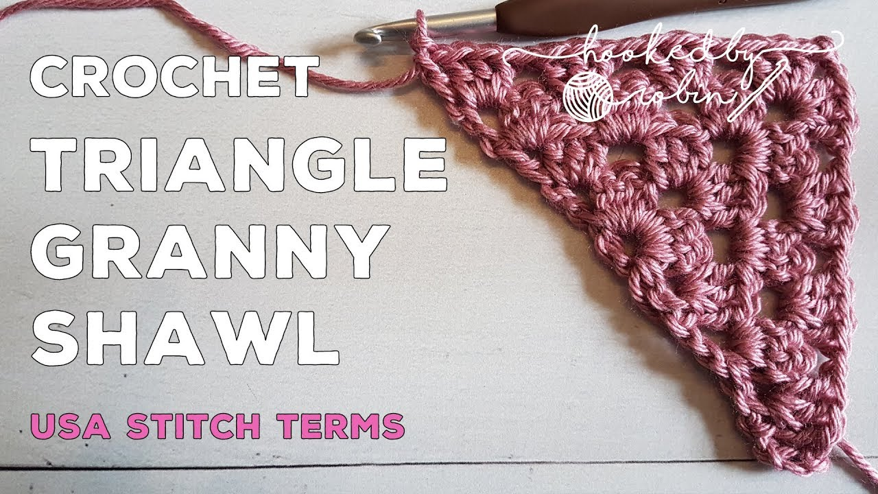 How to Crochet a Granny Shawl Triangle Motif   Super Easy Beginners Tutorial