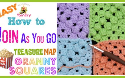 How to Join Treasure Map Popcorn Granny Squares - Easy JAYGO Crochet Tutorial | The Secret Yarnery