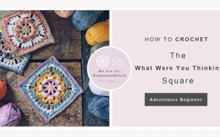 How to crochet the What Were You Thinking Square | A contemporary granny square tutorial