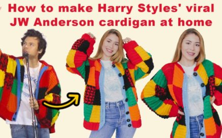 How to make Harry Styles' viral JW Anderson cardigan at home | Crochet Cardigan