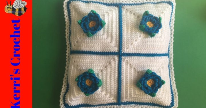 Joining Granny Squares with Single Crochet Tutorial