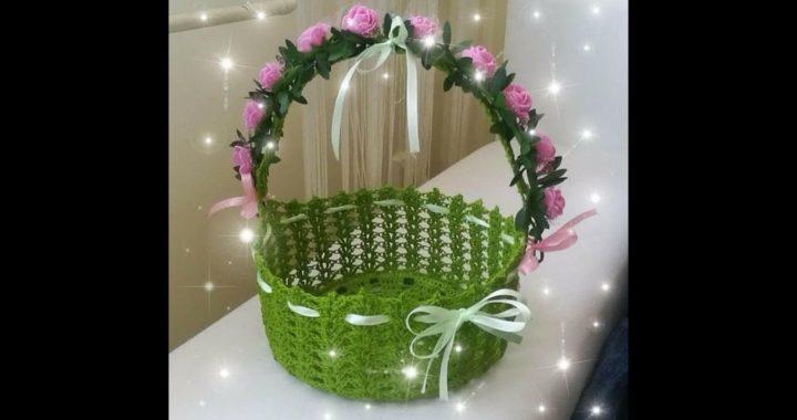 Koszyk, koszyczek na szydełku Part1/2- crochet basket, very beautiful, simply and fast