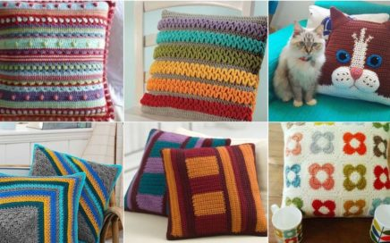Latest stylish crochet knitting granny square cushions designs and pattern with new ideas