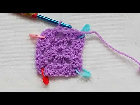Left handed basic granny square crochet tutorial Crochet Nuts