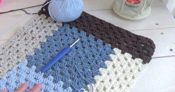 Manta fácil y rápida a ganchillo sin coser | de verdad crochet