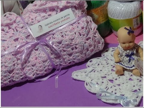 Mantilla de bebé en crochet