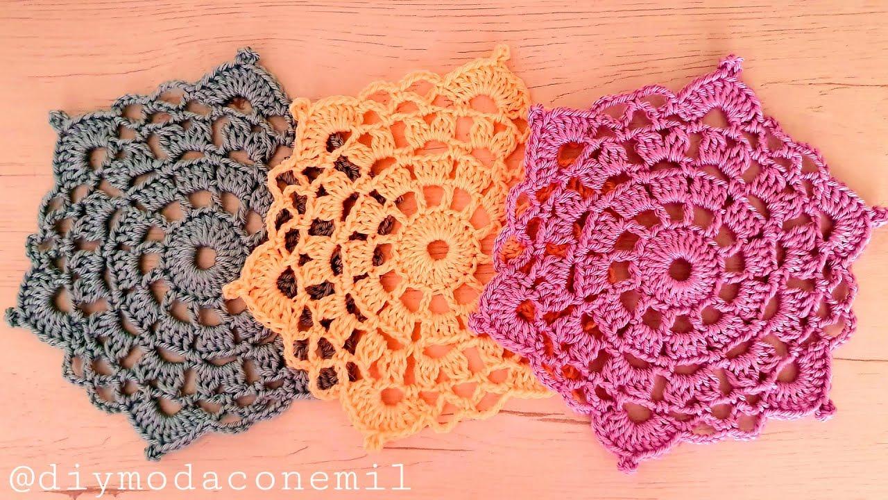 Mini tapete tejido a crochet paso a paso