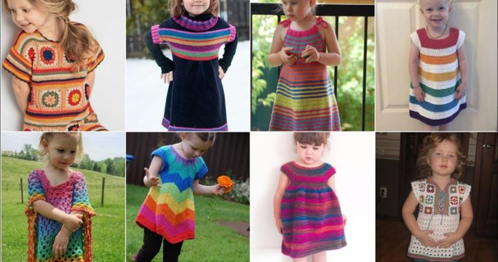 Outstanding crochet knitting granny square baby frocks pattern and designs 2021