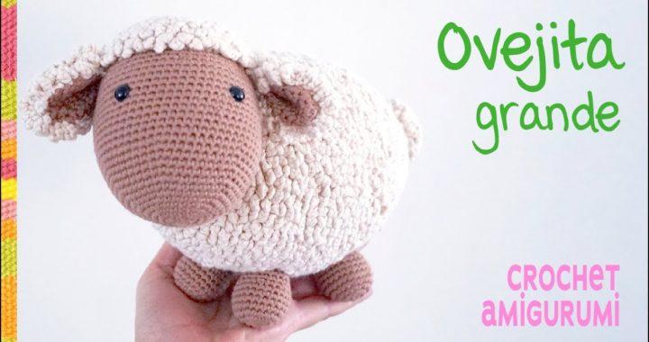 Oveja GRANDE grande tejida a crochet (amigurumi + punto ovejita)  🧶/ Tejiendo Perú