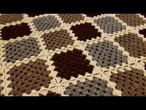 Part 2 - The Continuous Join-As-You-Go Granny Square Blanket Crochet Tutorial!