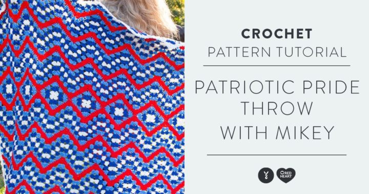 Patriotic Style Throw with Mikey of The Crochet Crowd | Crochet Granny Square Pattern Tutorial