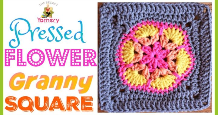 Pressed Flower Granny Square - African Flower into a Square - Easy Crochet Tutorial
