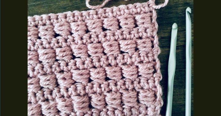 Puntada a crochet fácil y rápida:  Punto abalorio