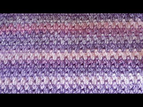 Punto A Crochet - Para Bufandas - Chalecos - Mantas
