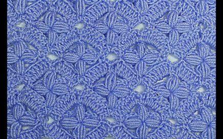 Punto de flores a crochet especial para mantas y cobijas