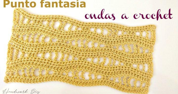 Punto fantasía crochet ondas | handwork Diy