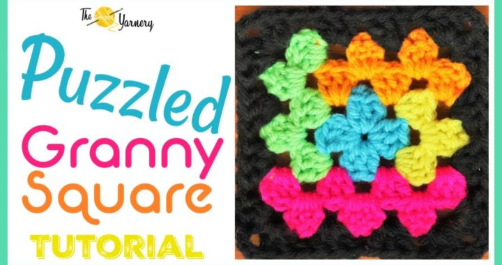 Puzzled Granny Square - Autism Crochet Afghan - Easy Log Cabin Crochet Pattern | The Secret Yarnery
