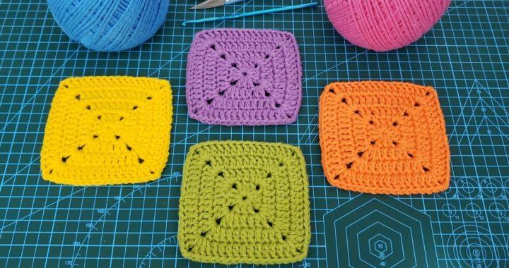 Quadrado de Crochê Perfeito - Square de Crochê - Tutorial de Crochê - DIY