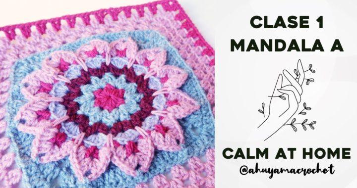 RETO MANDALAS A CROCHET - CLASE 1: cómo tejer el MANDALA A | JARDÍN DE MANDALAS #katiacalmathome
