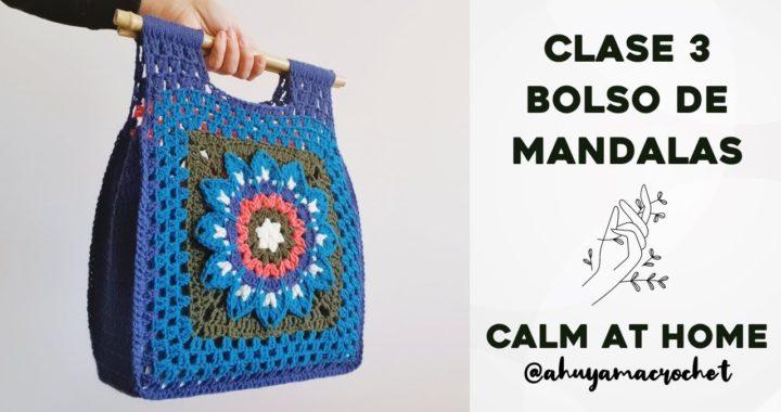 RETO MANDALAS A CROCHET - CLASE 3: cómo tejer un bolso con mandalas cuadrados o granny squares