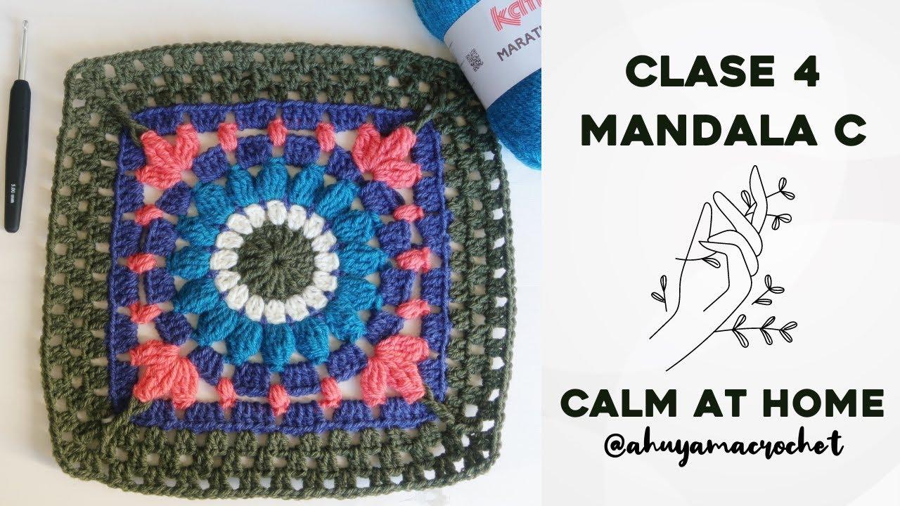 RETO MANDALAS A CROCHET - CLASE 4: cómo tejer MANDALA TIPO C   JARDÍN DE MANDALAS #katiacalmathome