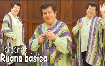RUANA básica con punto perlitas tejida a crochet 😍 / Tejiendo Perú