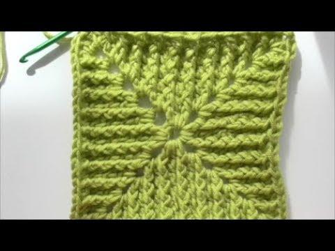 Ribbed Granny Square Crochet Tutorial