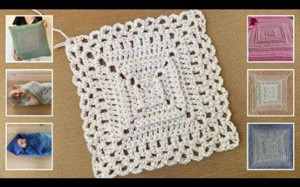 SIMPLE GRANNY SQUARE WITH TEXTURE - FREE CROCHET PATTERN