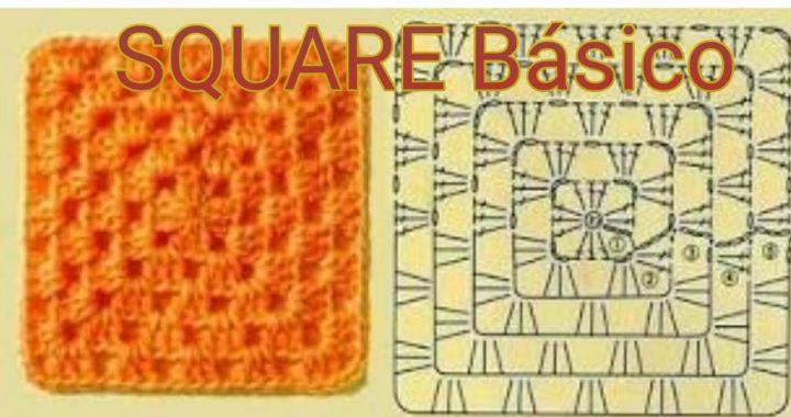 Square básico de crochê (fotos passo a passo)