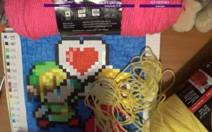 Started an ambitious crochet project - Link and Zelda Pixel Blanket! (Stream)