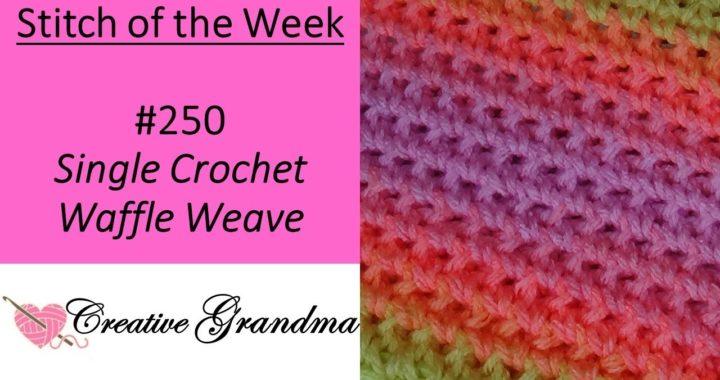 Stitch of the Week # 250 Single Crochet Waffle Weave Stitch - Crochet Tutorial
