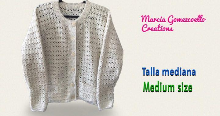 TEJIDOS A CROCHET: Suéter Fácil y Rápido/ HOW TO CROCHET: Fast and Easy Sweater stitch