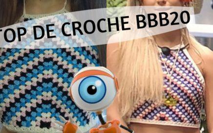 ❤️ TOP DE CROCHÊ  ❤️ (BBB20)| Top da Gabi do BBB20 pra vc fazer e vender feito água!