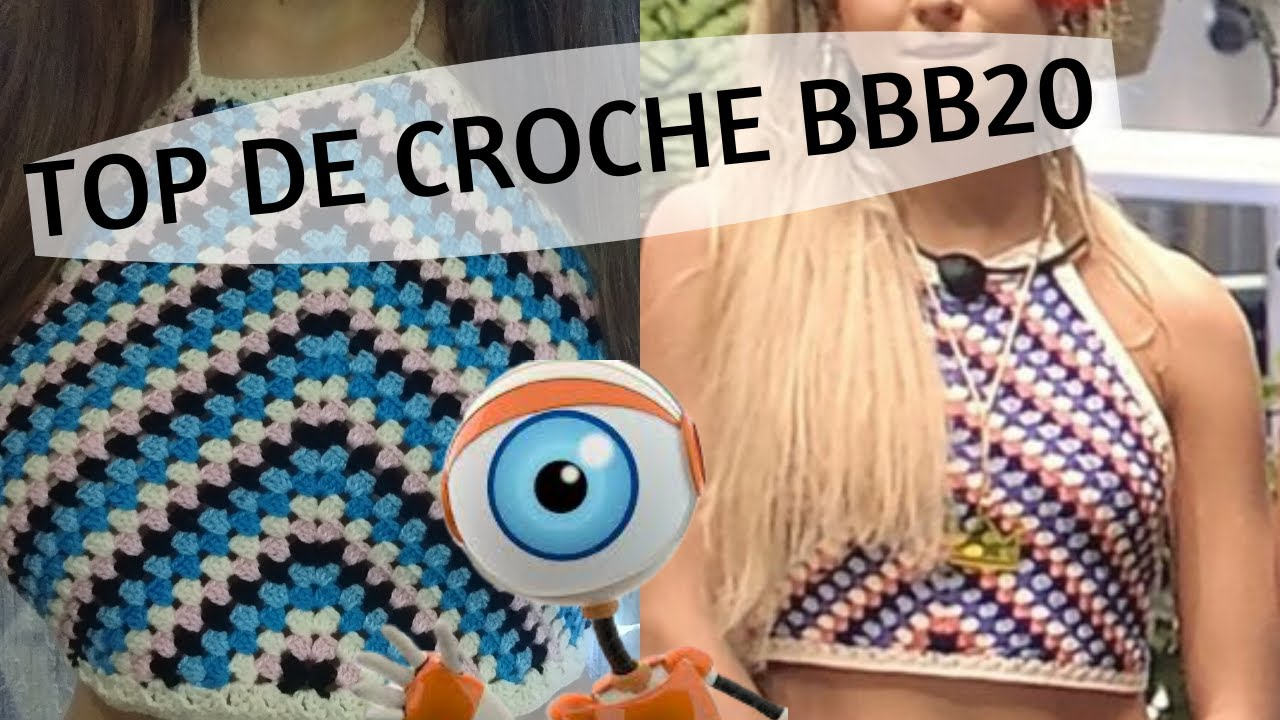 ❤️ TOP DE CROCHÊ  ❤️ (BBB20)  Top da Gabi do BBB20 pra vc fazer e vender feito água!