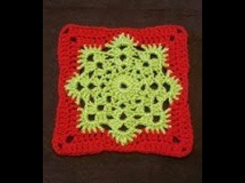 TUTO crochet : Un granny rond qui devient carré ! tutorial : roud granny and square