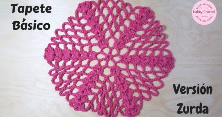 Tapete Básico a crochet paso a paso (Versión zurda)