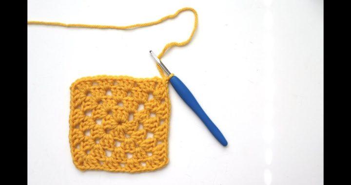 Traditional Granny Square Crochet Tutorial