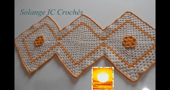 Trilho de mesa Square de Crochê | Sol Ensinando Crochê