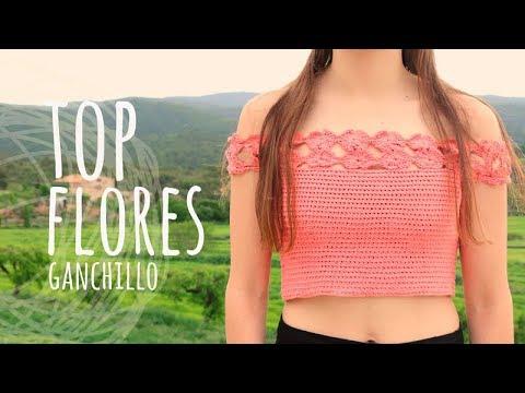 Tutorial Top Flores Fácil Ganchillo | Crochet - ¡Todas las Tallas! - Lanas y Ovillos