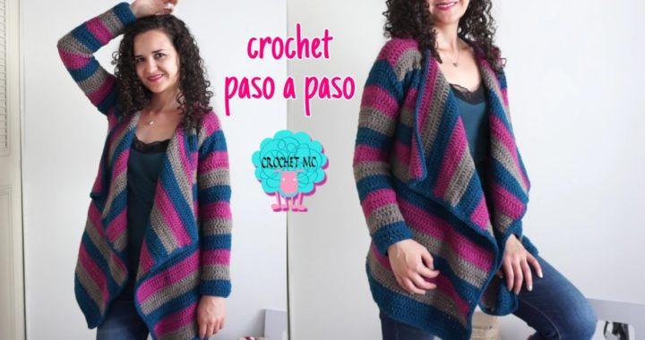 Tutorial suéter- cardigan a crochet