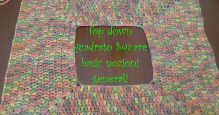 #Uncinetto #Topdown square basic  #topdown quadrato basico chiuso #Elfica'sHouse