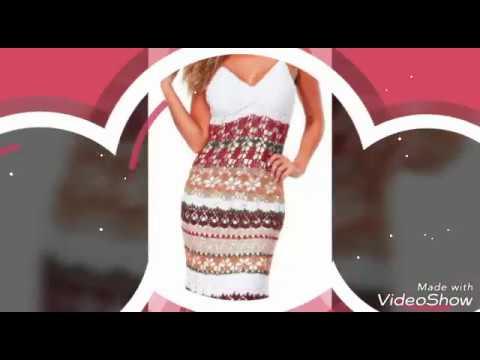 Vestido de verano muy bonito, tejido a crochet - los patrones