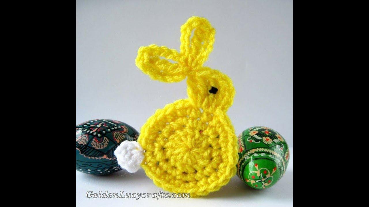 Zajączek na szydełku, króliczek aplikacja - crochet bunny, aplication, very simply and fast
