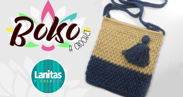 🌸como tejer un BOLSO a crochet FACIL | Lanitas y colores 🌸